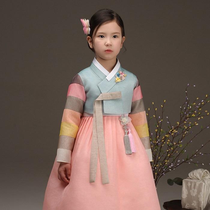 더예한복 QT311색동예봄 여아한복 아동한복