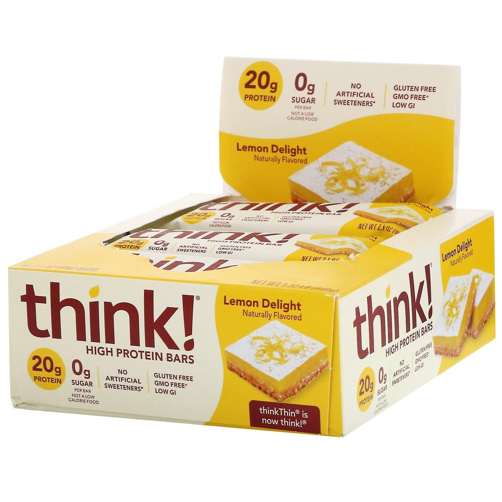 씽크씬 고단백질 바 레몬 딜라이트 10개 각 60g 프로틴바, 1개, -