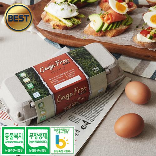 소원농장 무항생제 동물복지 유정란 계란 달걀, 40구