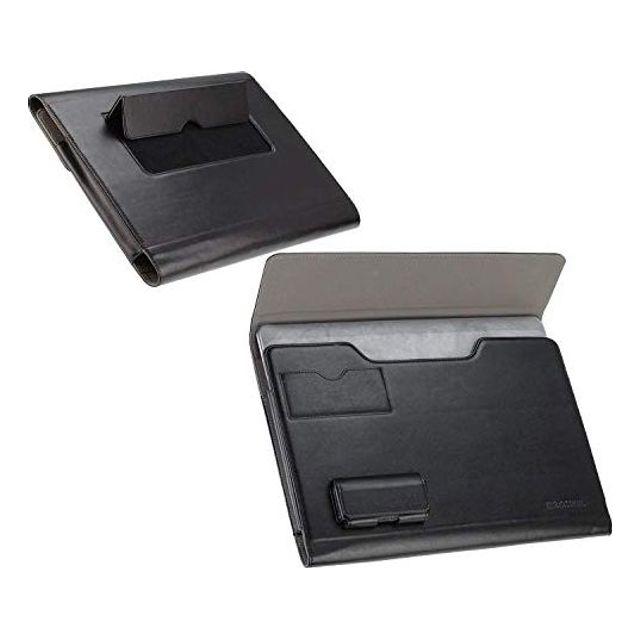 Broonel-Prestige-Asus ZenBook Pro Duo와 호환되는 블랙 럭셔리 노트북 폴리오 케이스 커버