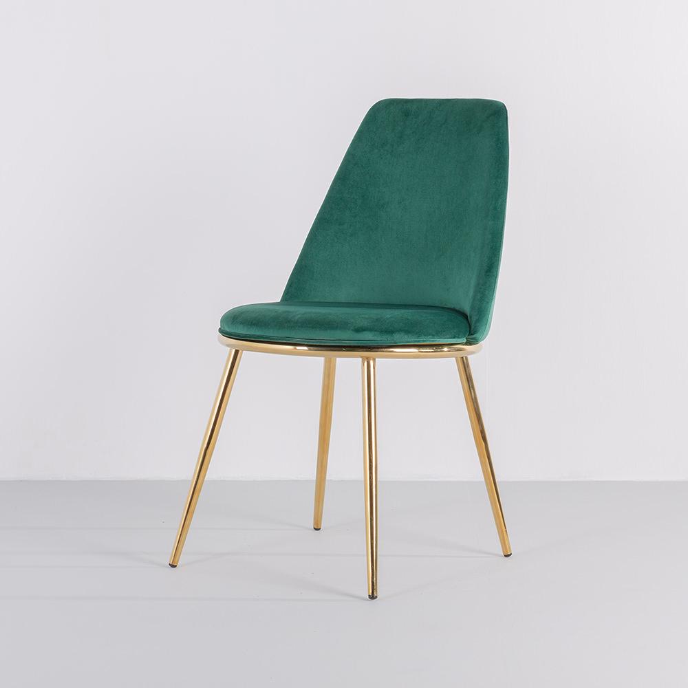 가구느낌 링벨벳체어 식탁의자 디자인 카페 골드 인테리어의자, 01_링벨벳체어-그린
