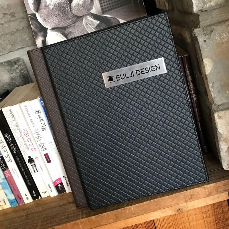 을지메뉴 퀼팅 블랙 M L A4 고급 메뉴판 카페메뉴판 테이블메뉴판 A4메뉴판 예쁜메뉴판