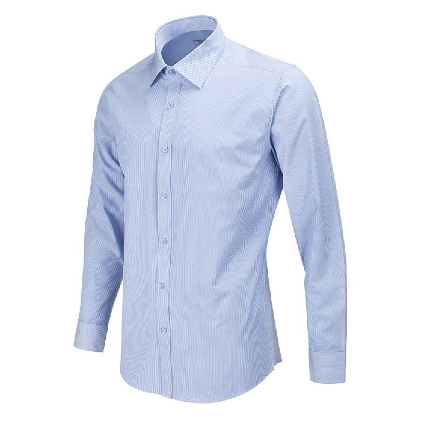 아인스 헤어라인 스트라이프 슬림 블루 와이셔츠 여성크로스백