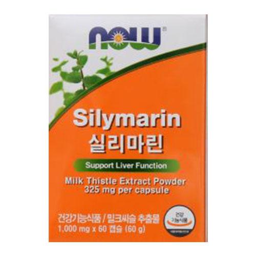 NOW 실리마린1000mgx60캡슐, 2개, 1000mg