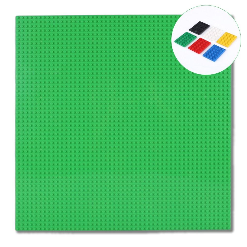 토이다락방 레고판 레고 클래식 호환 대형 놀이판 50x50칸(40x40cm) 레고호환블록, 연초록+레고발판