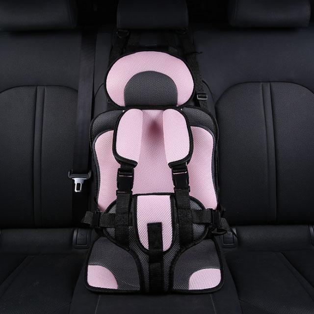 더블해피몰 휴대용 간편 유아 카시트 보조시트 어린이 안전벨트 2종 8칼라, 대형 핑크