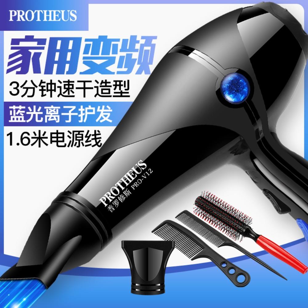 헤어 드라이어 가정용 파워 헤어 살롱 음이온 냉온 드라이기, Inverter 4000 Blu-ray Home Dormitory Free 3+ Curling Hair Comb