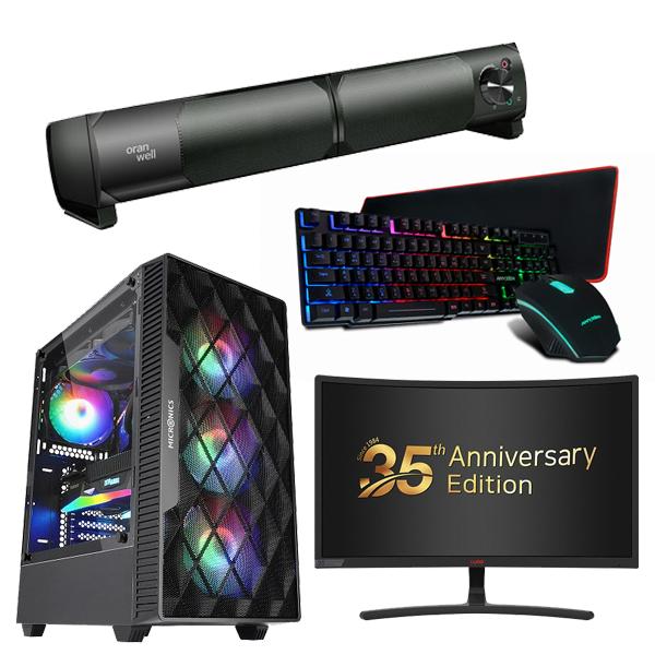 초이스컴 한정10대 풀세트 AMD 라이젠 조립PC 고사양 게이밍컴퓨터 윈도우포함, 하드1TB 추가, 게이밍 풀세트 - 3500X+GTX1660S+8G