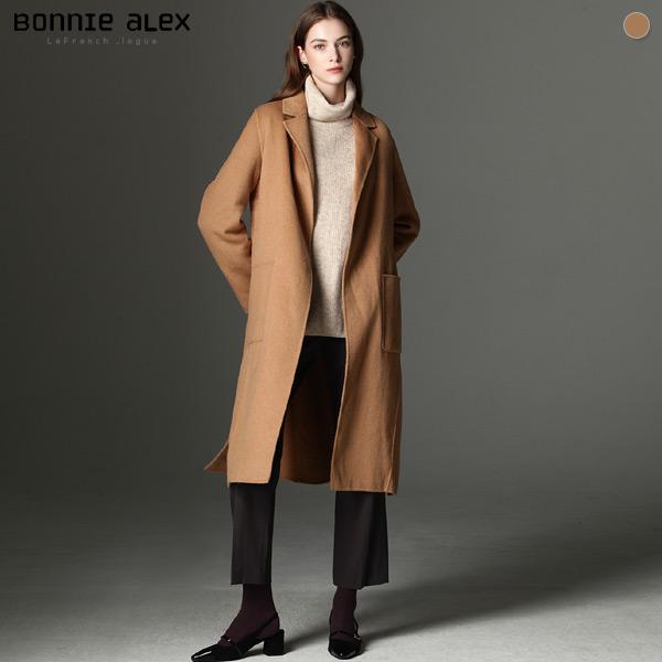 보니알렉스 보니알렉스(BONNIE ALEX) 소프닝 카라 핸드메이드 코트 (택가격:365000원)