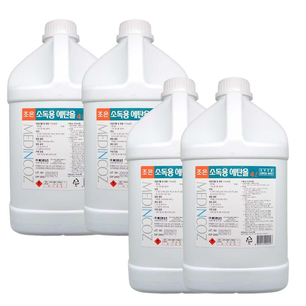조은 소독용 에탄올(83%) 4L, 4개