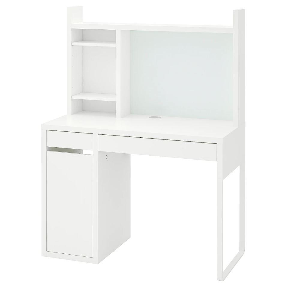 이케아 MICKE 미케 책상 워크스테이션 화이트 105x50 cm, 조립외 제품 서비스 동영상 별도 제공