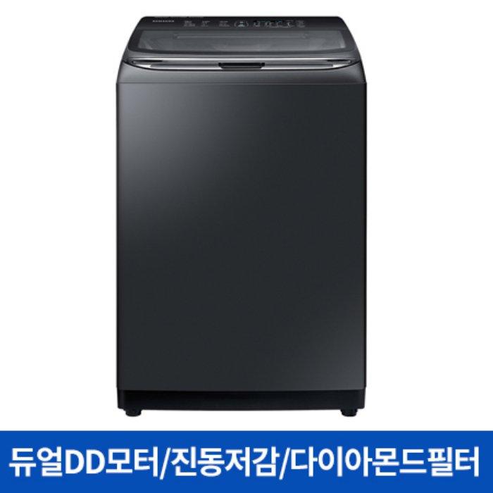 삼성 WA22T7870KV 일반세탁기[22KG/블랙케비어], 단일상품