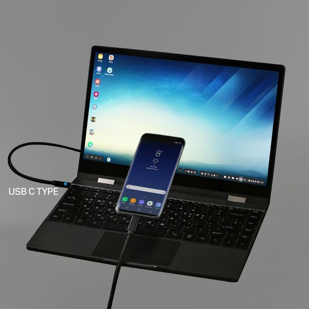 플립북 DEX북 미러링 노트북 터치스크린 휴대용모니터 13.3인치