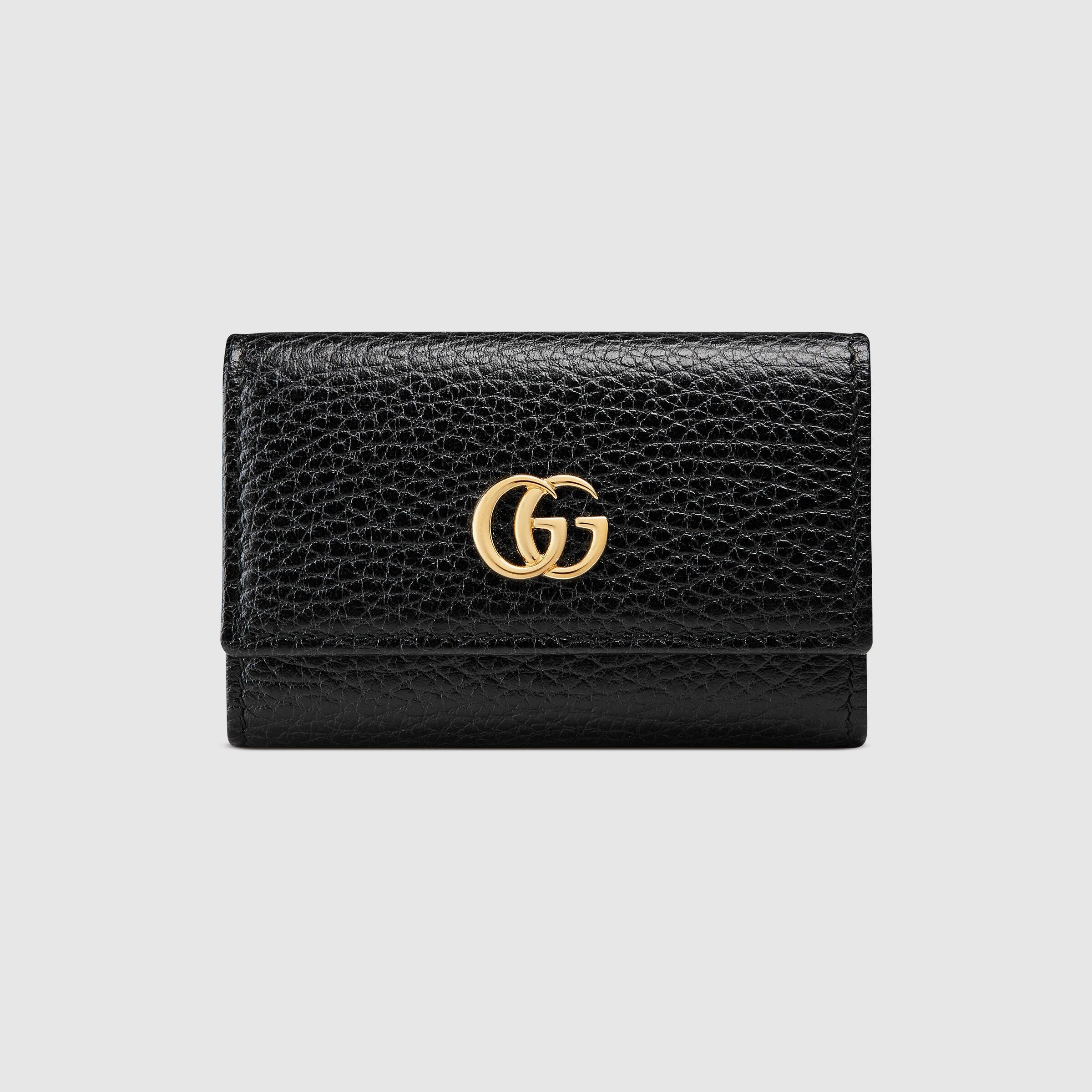 Gucci GG Marmont leather key case 456118 CAO0G 1000