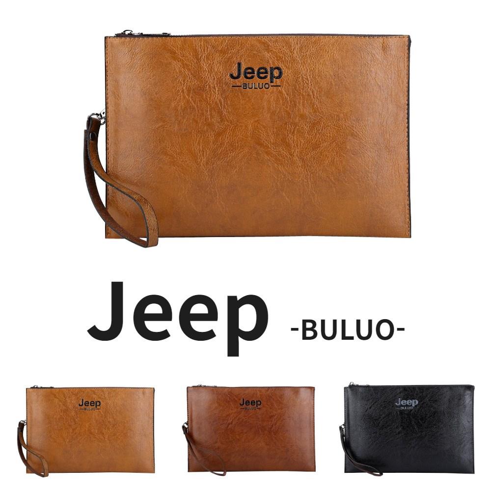 Jeep BULUO 지프 가죽 남자 클러치백 파우치 손가방 스트랩