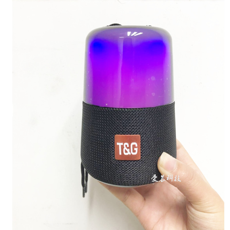 TG 168 무선 LED 사파리 컬러라이트 블루투스스피커 저음포 기프트 카드꽂이, 카모