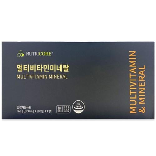 뉴트리코어 멀티비타민미네랄(500mg x 180정) 4박스, 90 g(500 mg x 180정)