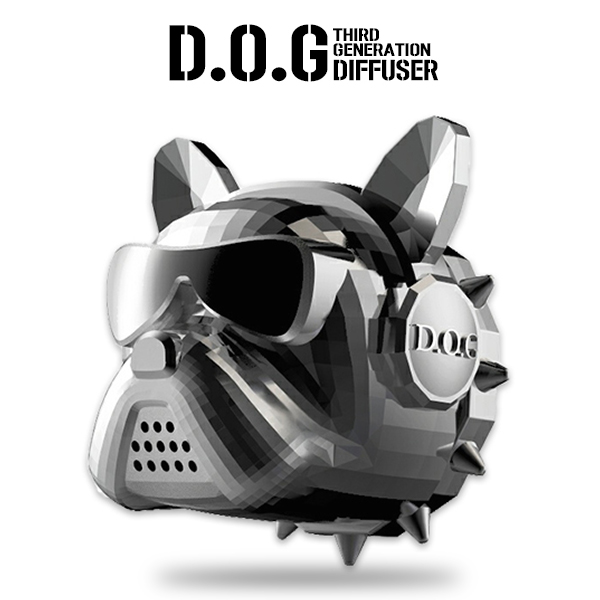 D.O.G 2020년형 차량용 방향제 프렌치불독 용 닭 자동차 송풍구 디퓨저 (3종 / 향 23가지), [와켄] 메탈릭골드, 바바토아티산