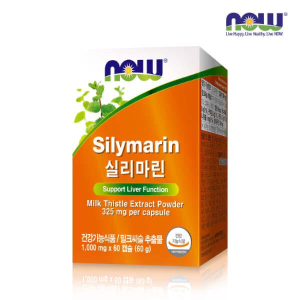 [현대백화점][나우푸드] 실리마린 (1000mg x 60캡슐), 단일속성, 없음