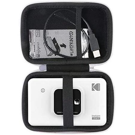 Kodak Mini Shot 2 용 Aenllosi 하드 휴대용 케이스 레트로 미니 2 스퀘어 미니 샷 콤보 2 (샷 2 그레, 상세 설명 참조0