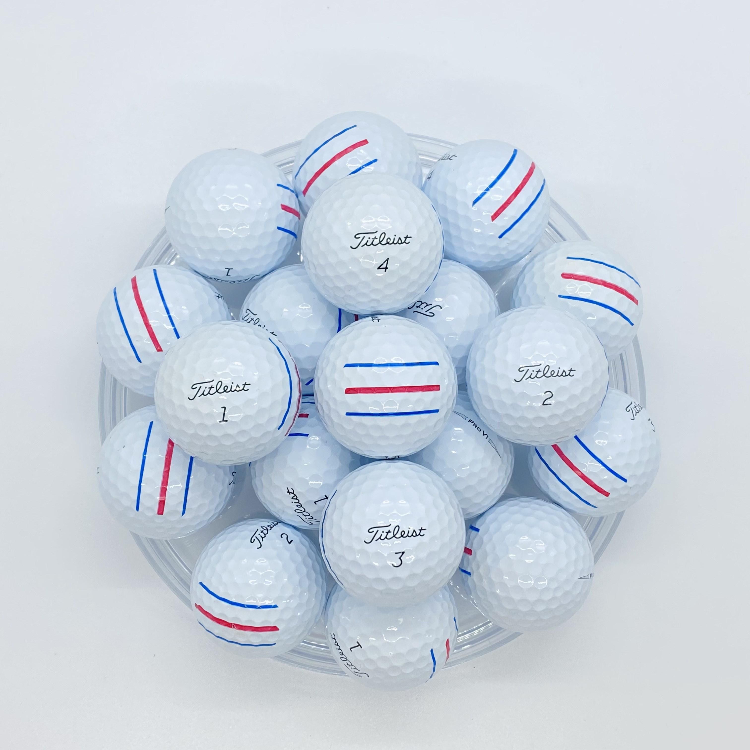 타이틀리스트 로스트볼 삼선마킹 화이트 골프공 PRO V1 A+, 10개, 삼선마킹 화이트 PRO V1 A+