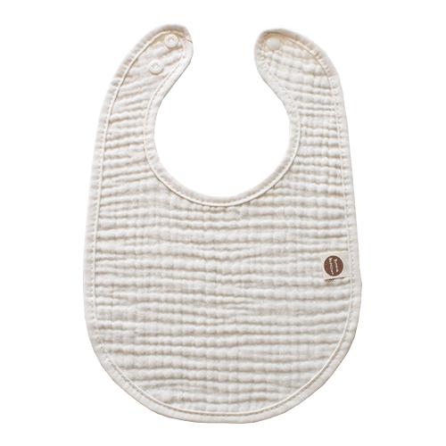 바니블라썸 여름용 거즈 스카프빕 아기 턱받이 유아 신생아 침받이, 베이지거즈 토끼턱받이