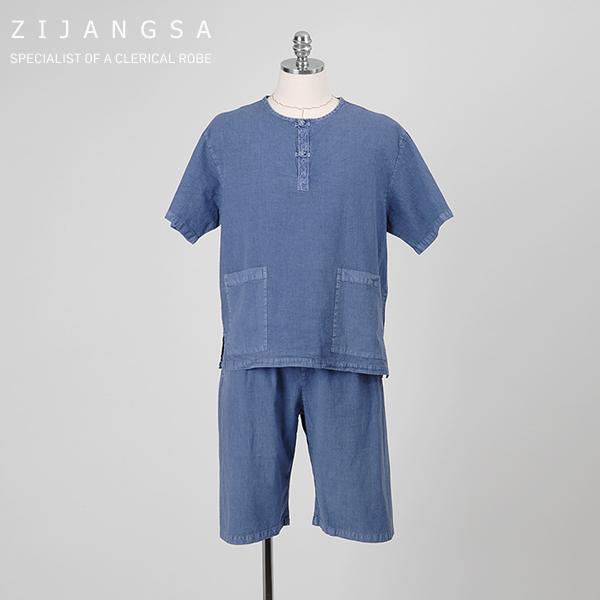 [10334] 자수 어른 반바지 남여공용 여름생활한복 여름개량한복 데일리한복 잠옷 집옷 에콜로지룩 (POP 1395890170)