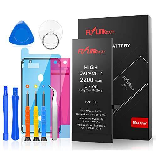 Flylinktech for 아이폰 6S 배터리 2300mAh 고 용량 Li-ion 배터리 with 리, 상세내용참조