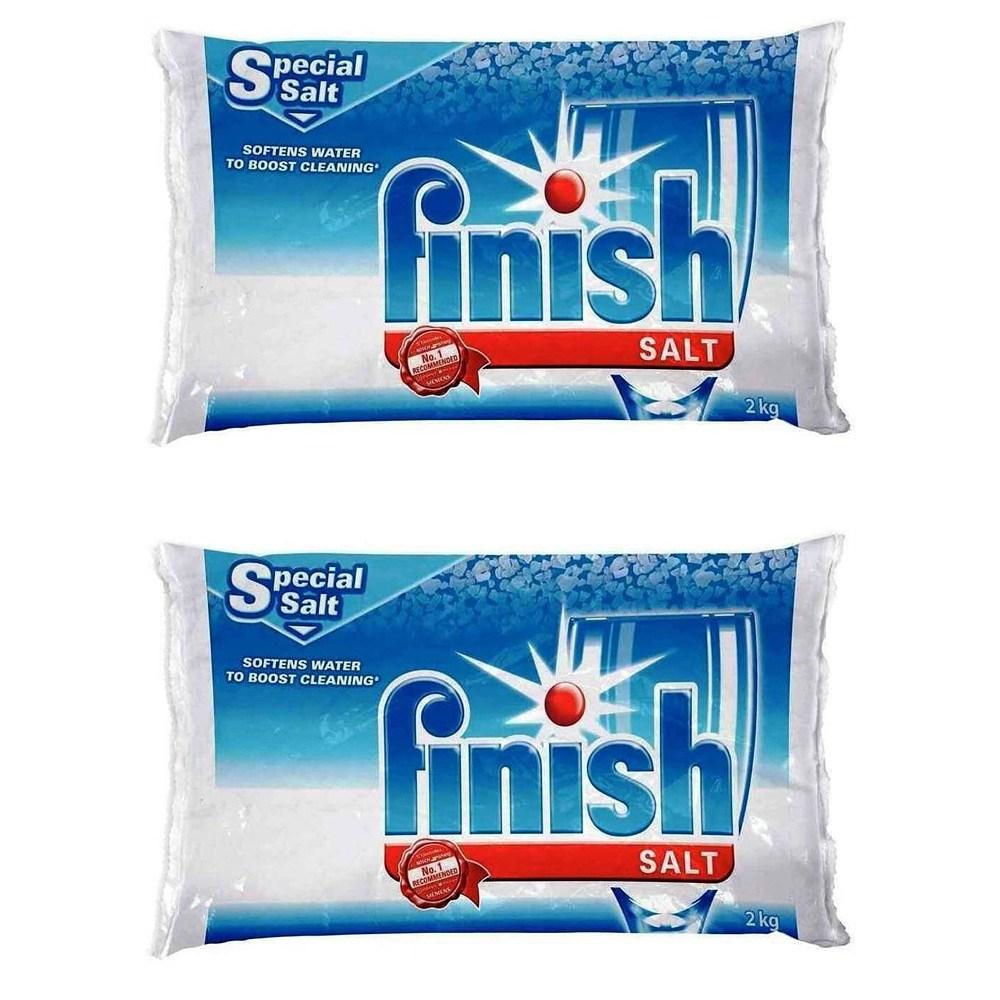 Finish Water Softener Salt For Bosch Dishwasher 2-Pack 8.8 Lbs 보쉬 식기세척기용 스페셜 소금 2kg 2팩, 1set