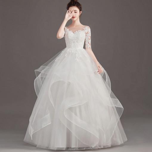 온리쉬 구름치마 레이스 셀프 웨딩 드레스 촬영