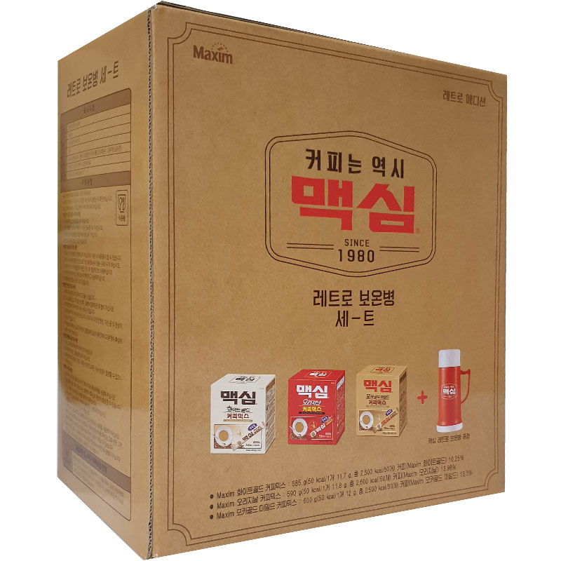 동서식품 맥심 레트로 보온병 포함 모카골드 커피믹스, 1개