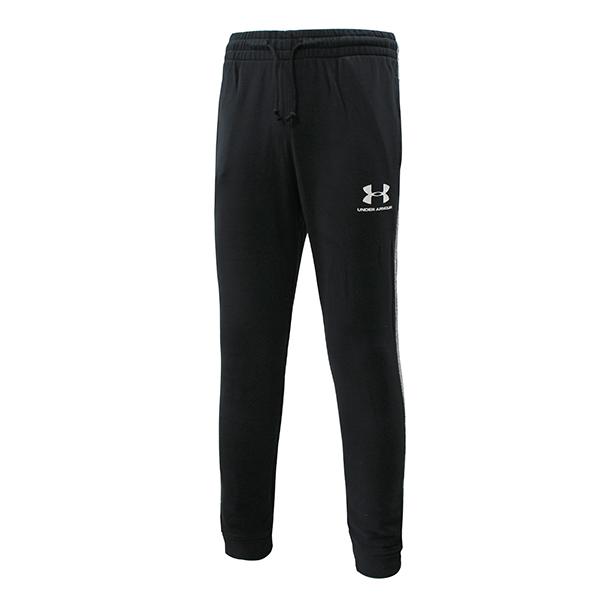 언더아머 UA 스포츠스타일 에센셜 조거팬츠 블랙 1345771-001 스포츠 패션 트레이닝 바지