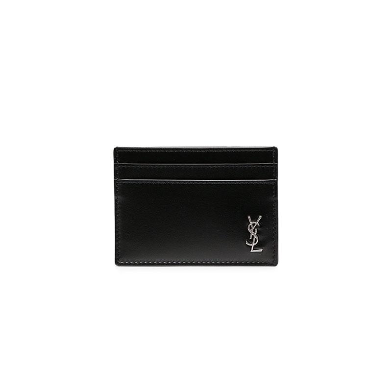 [더그란데] [생로랑] 모노그램 로고 카드 지갑 (블랙) 607603 1JB0E 1000
