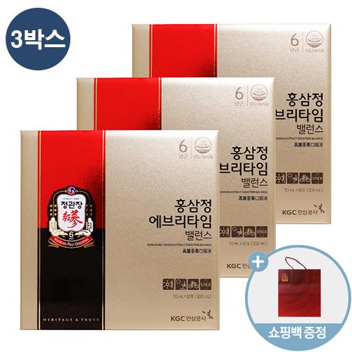 정관장 홍삼정 에브리타임 밸런스 + 쇼핑백, 10ml, 90포 3박스
