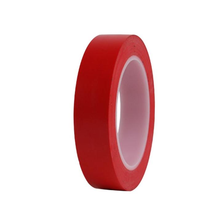 힘찬 덕성 바닥라인테이프 25mm 색상선택 색테이프 칼라테이프, 빨강