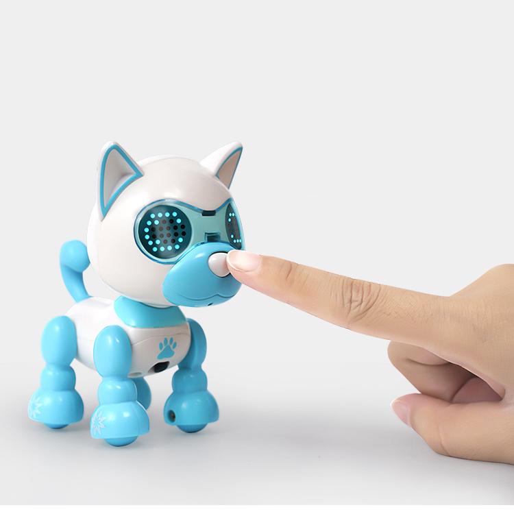 AI 스마트 멀티 중국어 말하는 강아지 장난감, 레드