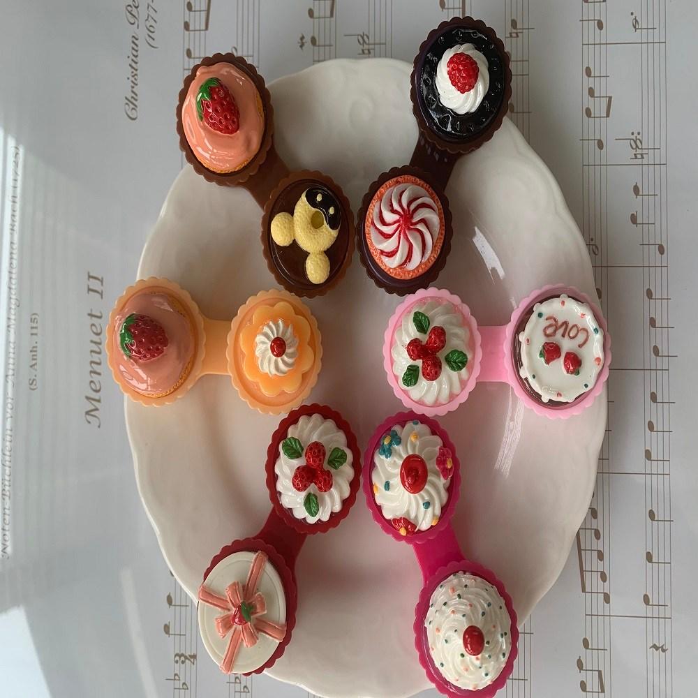 당일배송 케이크 렌즈케이스 서클 컬러 투명 케잌 원데이 케익 콘택트, 1개, 레드