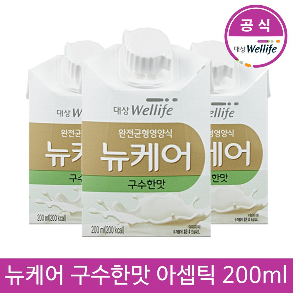 대상웰라이프 뉴케어 구수한맛 아셉틱 200mlx30팩, 단품, 200ml