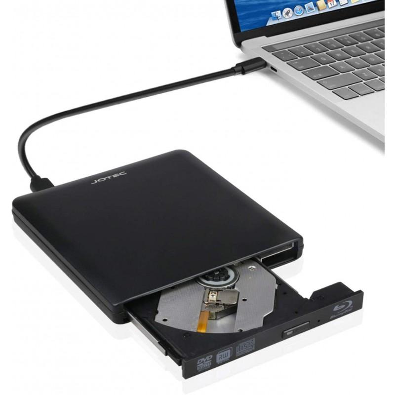 미국배송 JOTC USB 3.0 외장 블루 레이 리더 DVD 버너 CD iMac MacBook 프로 OS 및 Windows 7 8 10 PC(검, 단일옵션