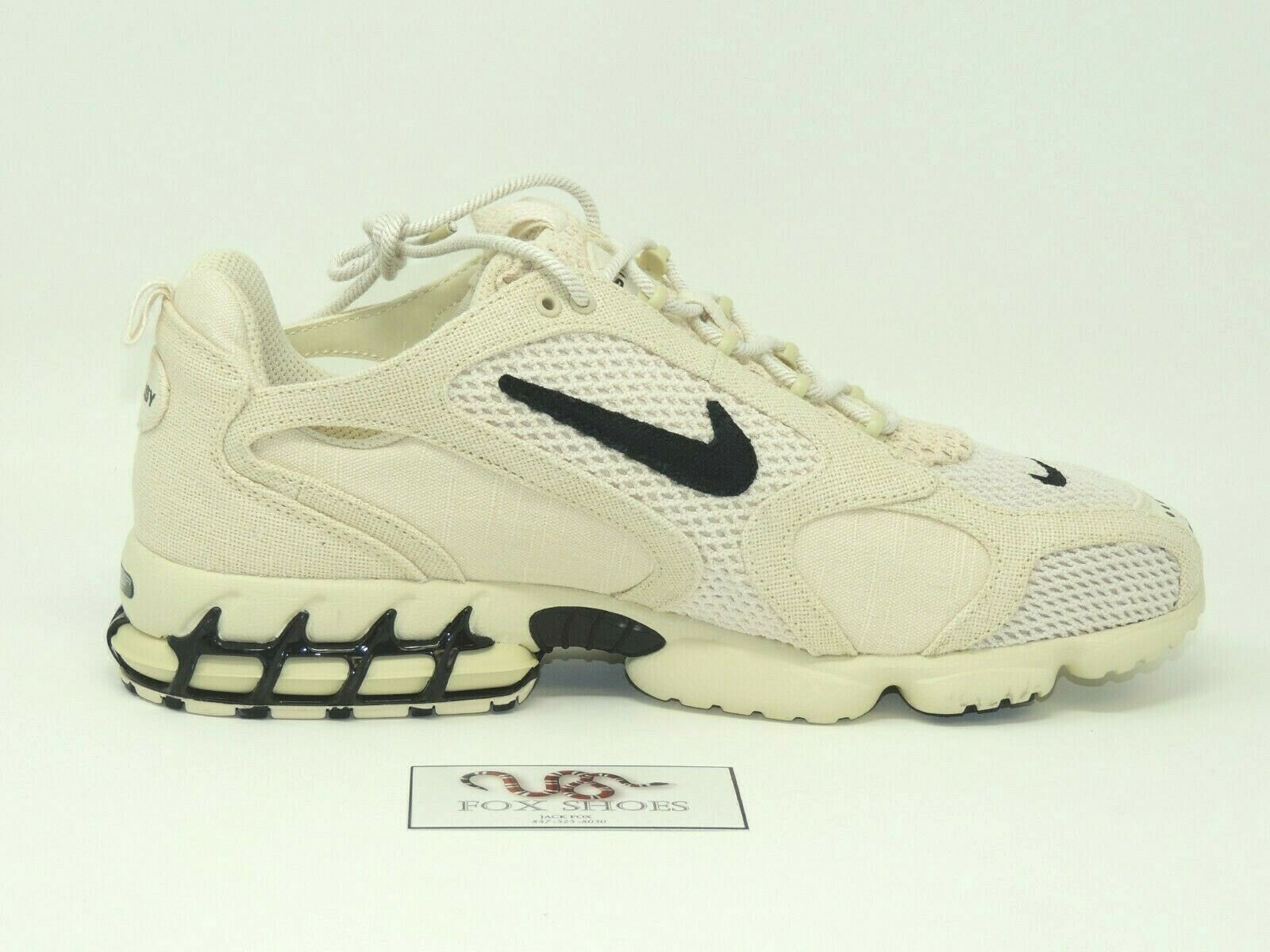 Nike x Stussy Air Zoom Spiridon Cage 2 Fossil Tan - Size 13 Men's - 뉴 RARE