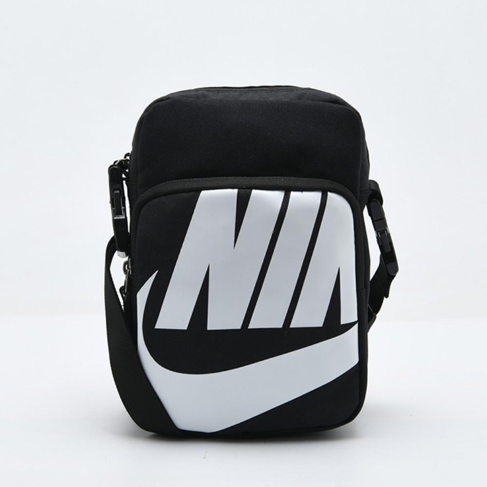 나이키 크로스백 남성용 새로운 남성용 가방 여성용 가방 스포츠 가방 메신저 가방 작은 가방 가슴 가방 캔버스, 블랙 화이트 라벨