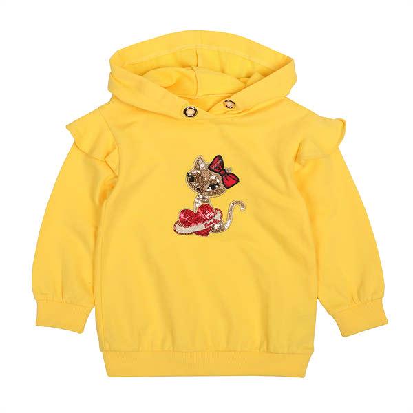 [현대백화점][프렌치캣] 옐로우 후드 롱 티셔츠(Q84DAT240)