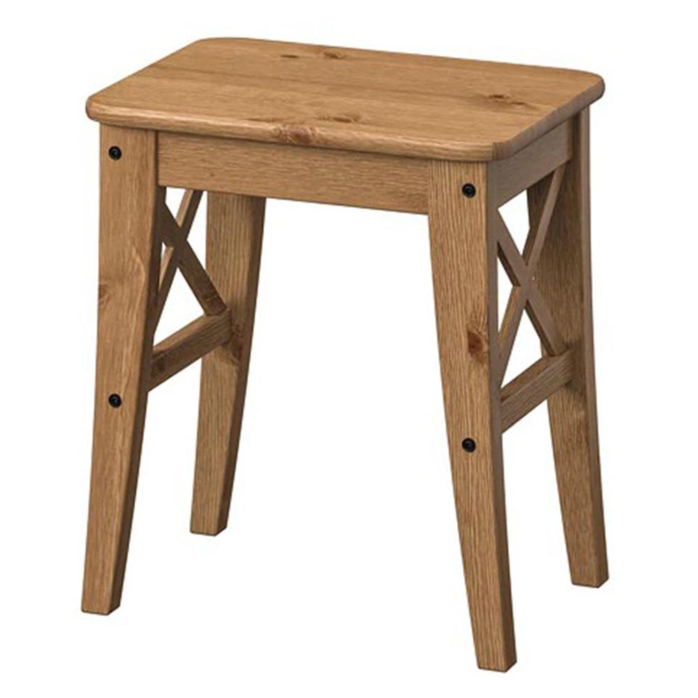 이케아 잉올프 사각 우드 원목 스툴 화장대 간의 의자, 브라운