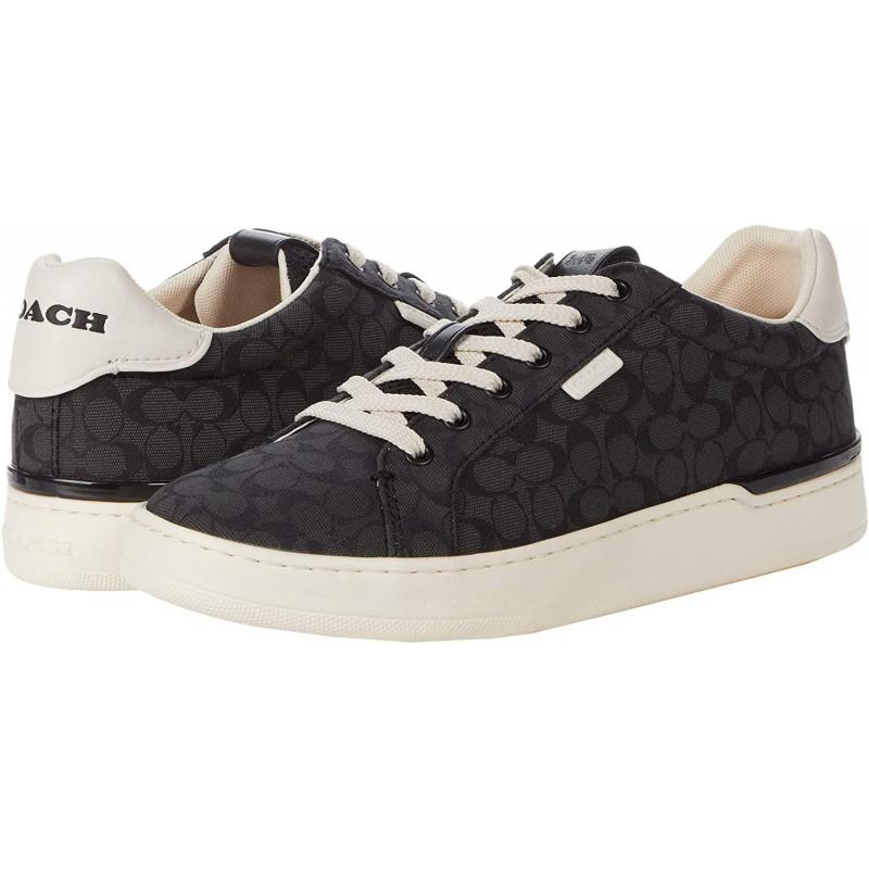 코치 Coach COACH 로우라인 로우탑 자카드 스니커 블랙 10 B(M): 신발