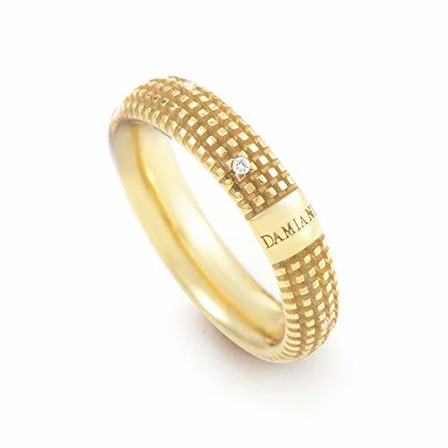 Damiani Metropolitan 18K Yellow Gold 9 Diamonds Band Ring
