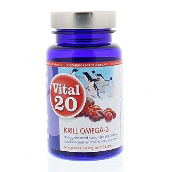 소프트 젤 캡슐 독일 제 심장과 간 (건강 강조 표시)에 대한 좋은 MSC 인증을 60x590mg Vital20 크릴 오일 오메가 3 Su