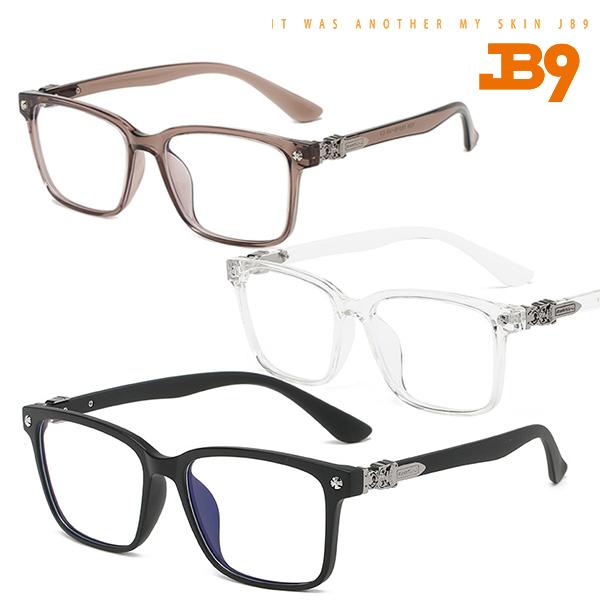 제이비나인 JB9 ROYAL 로얄 그대로착용 블루라이트차단안경 뿔테안경 3컬러 안경줄증정