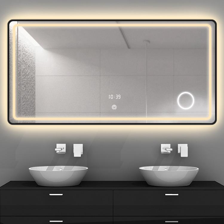 모위 스마트 LED 거울 욕실 블루투스 온도 습도 돋보기, 600x800mm가로