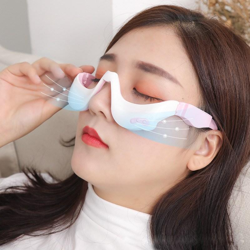Kiboer 눈마사지기 눈안마기 온열 진동 저주파전기요법 휴대용 혼색 (POP 1302333080)