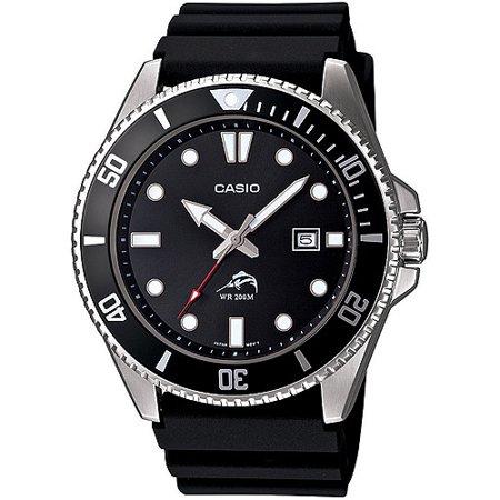Casio 카시오 다이버 스포츠 시계 Men's Black Dive-Style Sport Watch MDV106-1AV, 블랙